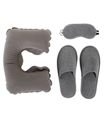 3pc grey travel sleep set