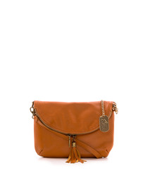 Cuoio leather double-zip crossbody
