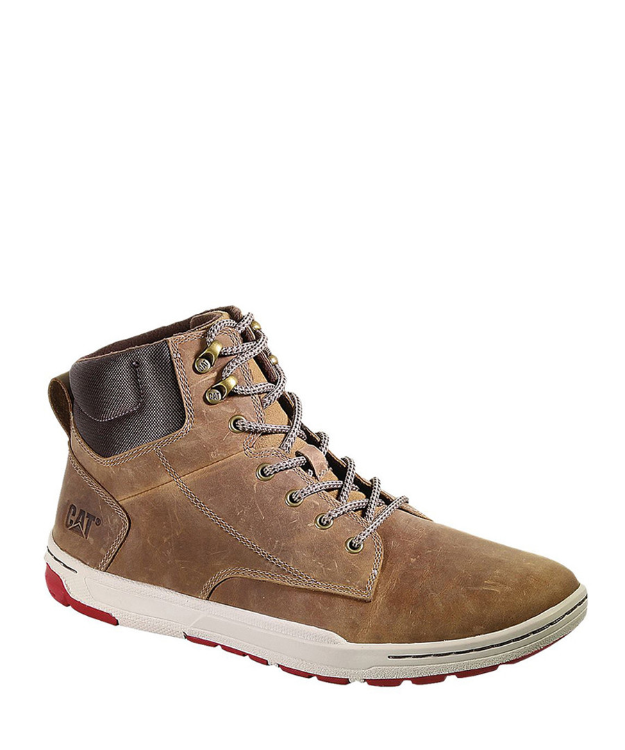 Dark beige leather hi-tops Sale - Caterpillar