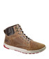 Dark beige leather hi-tops Sale - Caterpillar Sale