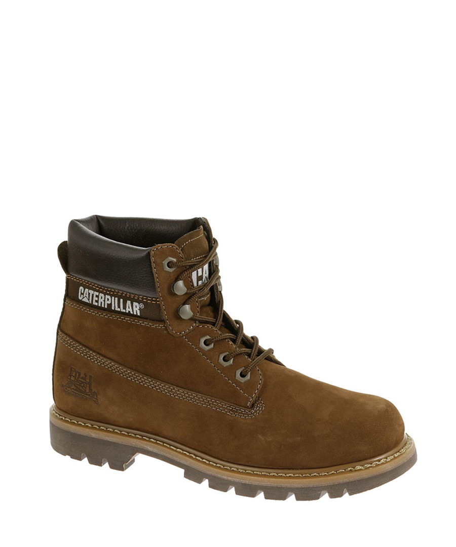 Men's brown leather lace-up ankle boots Sale - Caterpillar