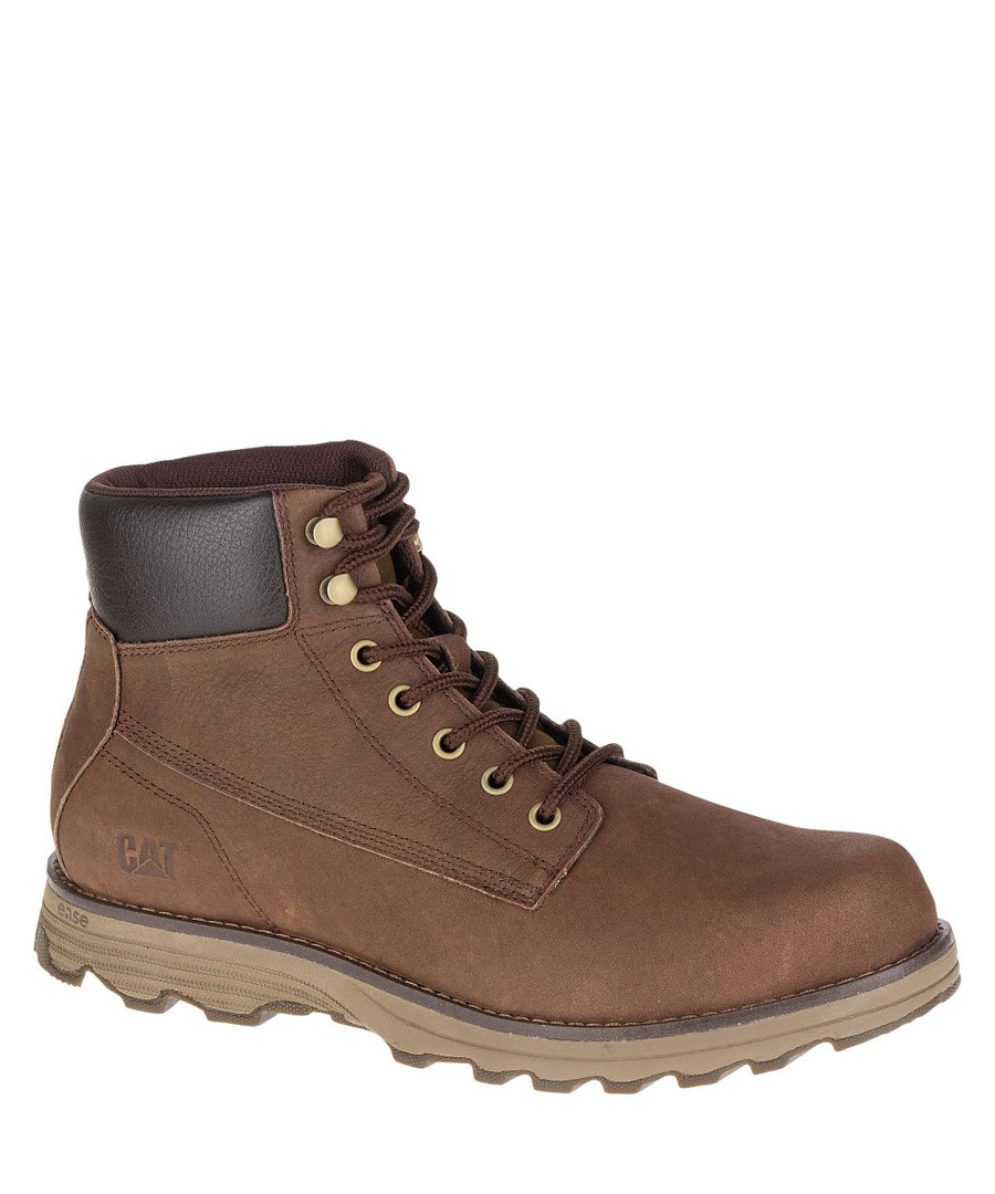 Men's dark rum leather ankle boots Sale - Caterpillar