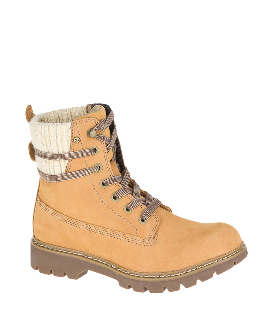 Women's honey leather high ankle boots Sale - Caterpillar
