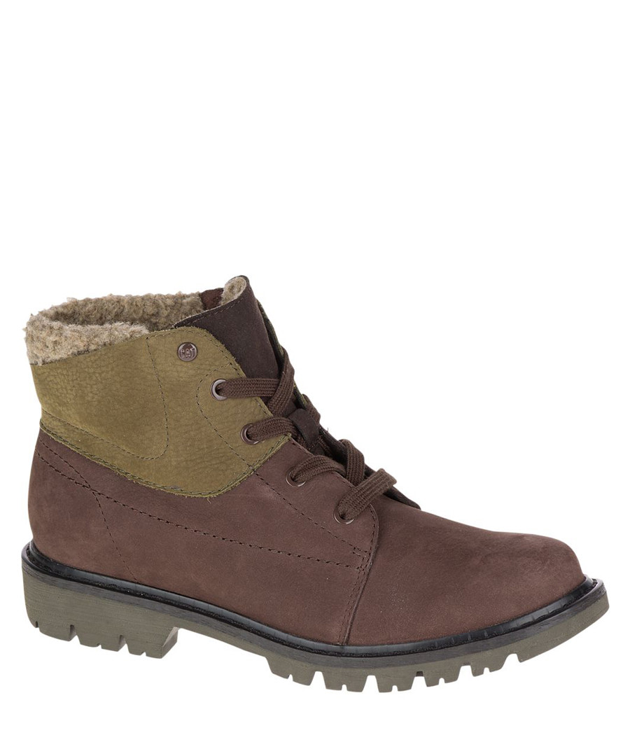 Men's olive leather ankle boots Sale - Caterpillar