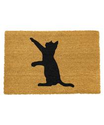 Natural & black cat doormat