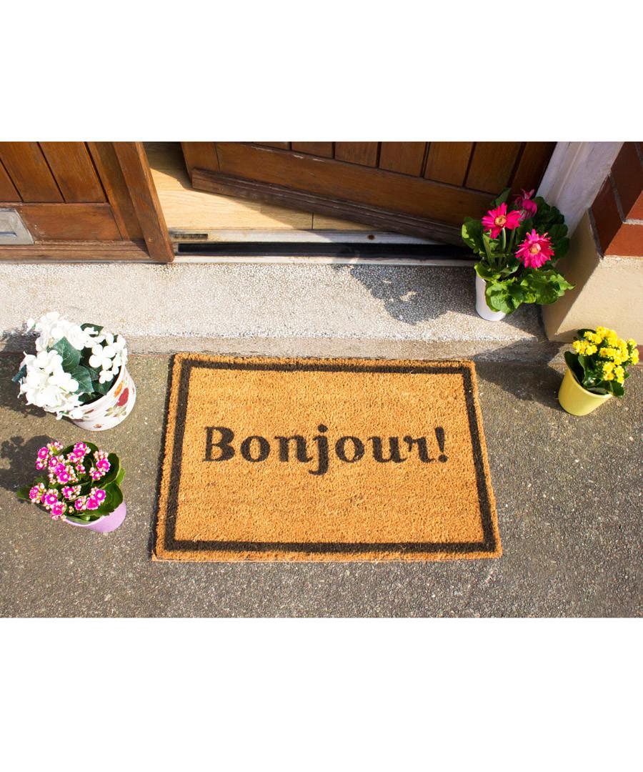 Discount Natural & black Bonjour doormat | SECRETSALES