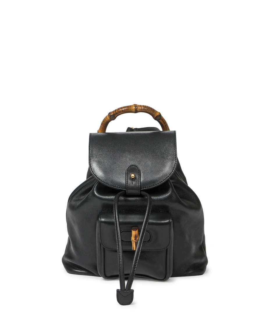 08423ed40b Bamboo black leather backpack Sale - Vintage Gucci