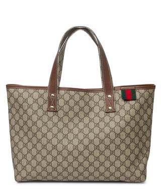 c4dca405b07 Signature beige coated monogram tote bag Sale - Vintage Gucci Sale