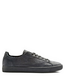 Stampd Clyde black suede sneakers
