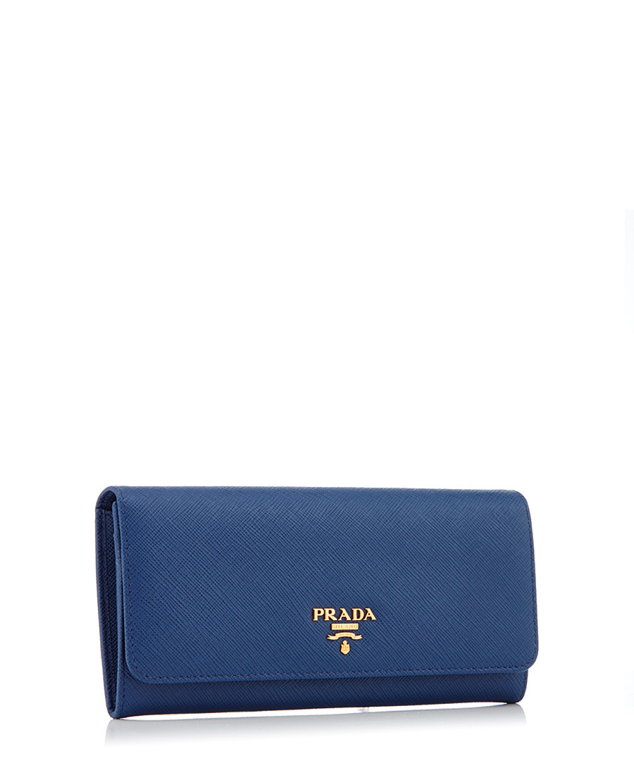 bd91c098de7 Discount Blue Saffiano leather foldover purse | SECRETSALES