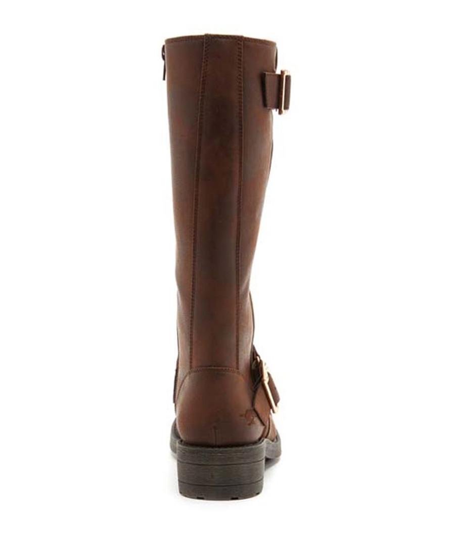 0e4a4bd733e ... Terry Graham brown buckle long boots Sale - ROCKET DOG ...