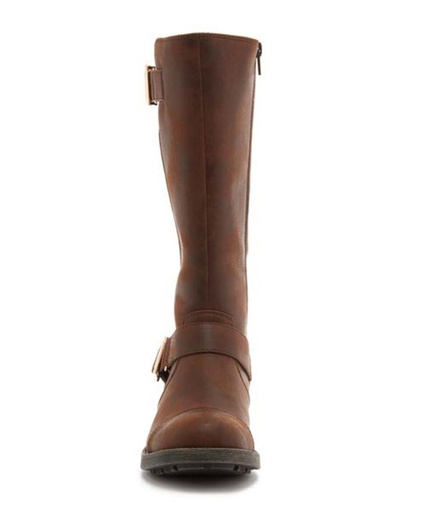 972d25007a8 ... Terry Graham brown buckle long boots Sale - ROCKET DOG
