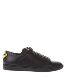 Court black leather sneakers