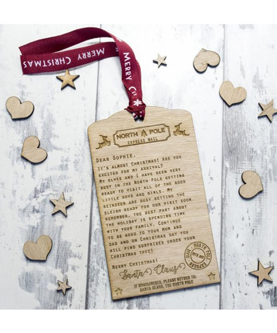 Personalised wooden Santa letter Sale - Shop Sharks