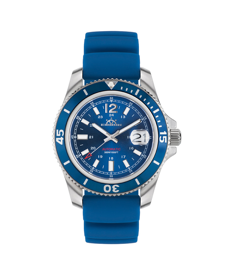 Diver Professional blue silicone watch Sale - hindenberg