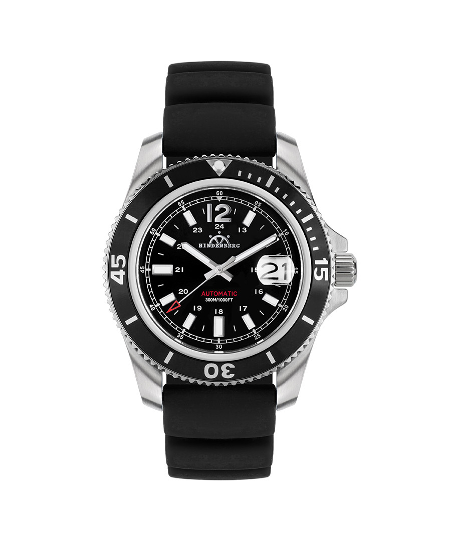Diver Professional black silicone watch Sale - hindenberg