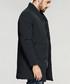 Black collared zip up down jacket Sale - kuegou Sale