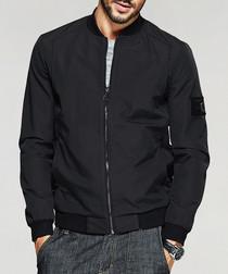 Black zip up bomber jacket