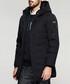 Black hooded zip up coat Sale - kuegou Sale