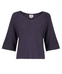 Grey pure cashmere batwing jumper
