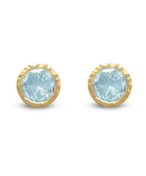 18ct gold-plated & topaz earrings