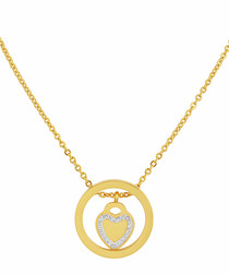 18k gold-plated heart necklace