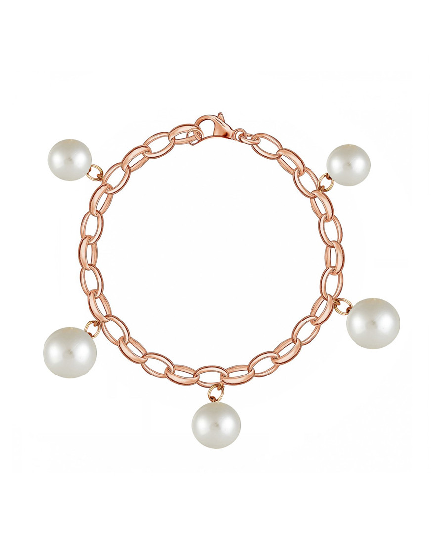 18k rose gold-plated & pearl bracelet Sale - liv oliver