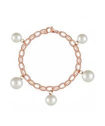18k rose gold-plated & pearl bracelet