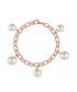 18k rose gold-plated & pearl bracelet Sale - liv oliver Sale