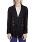 Black cotton blend flared blazer Sale - free people Sale