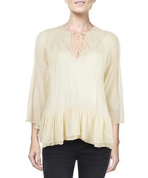 One Night white long sleeve tops