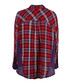 Red pure cotton check button-up shirt Sale - free people Sale
