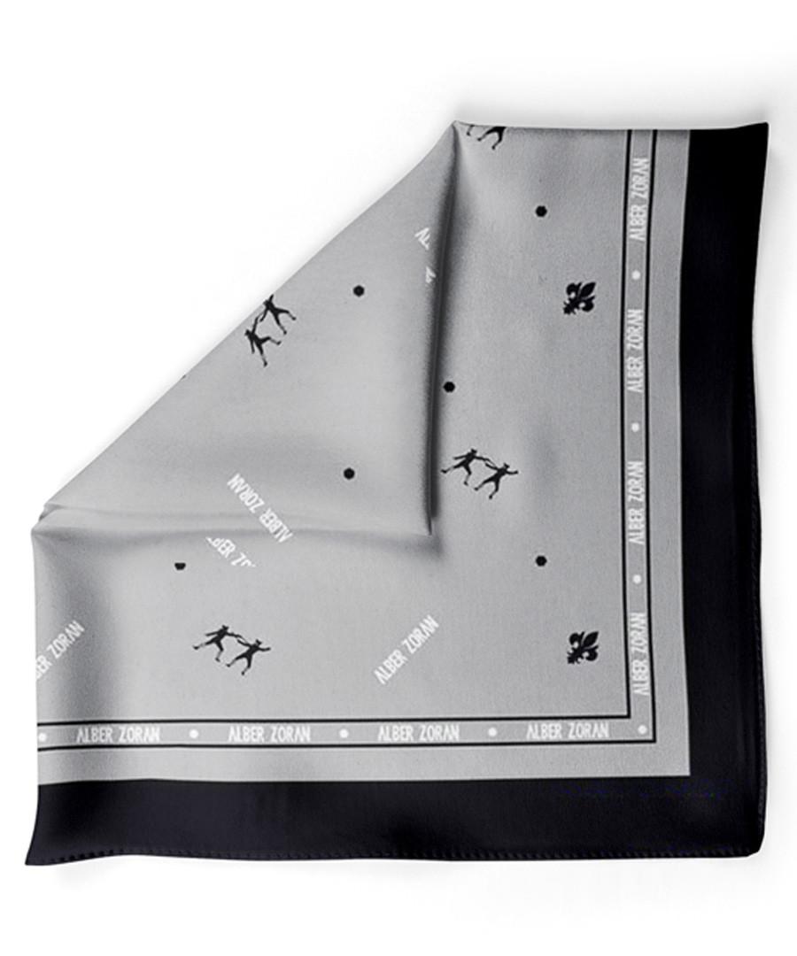 2f31ad8bf4b62 ... Icon grey & black print handkerchief Sale - alber zoran