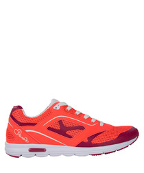 Women's Coral & red lace-up sneakers