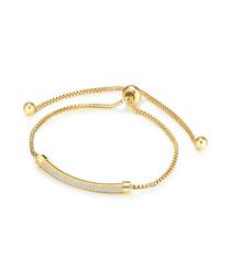 Gold-tone embellished bar bracelet
