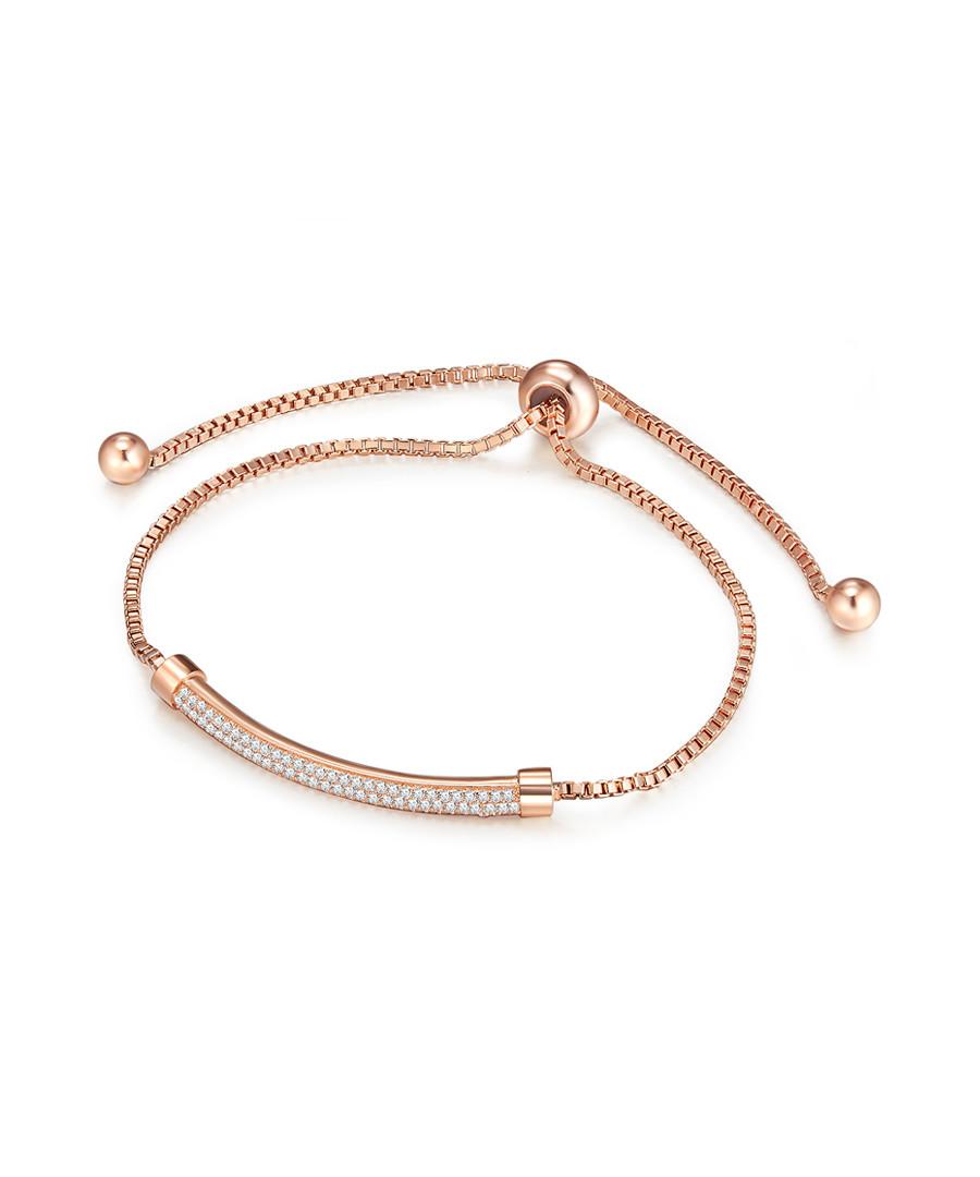 Rose gold-tone embellished bar bracelet Sale - runway