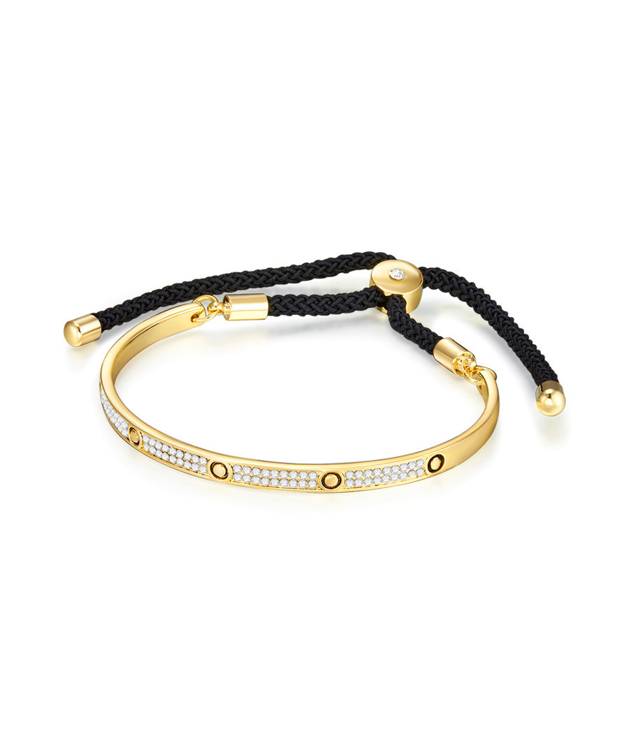Gold-tone & black embellished bracelet Sale - runway