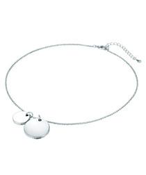 Silver-tone circle pendant necklace