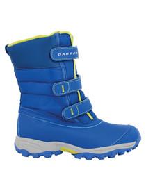 Skiway blue velcro ski boots