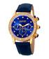 Blue leather crystal bezel watch Sale - august steiner Sale