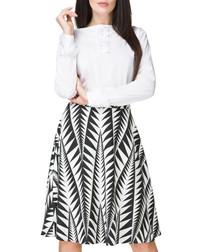 Black & white patterned skirt