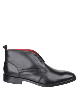 ec44fe4dc33c Base London. Byron Waxy black leather desert boots