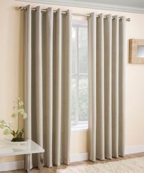 2pc cream thermal curtains 168cm x 183cm