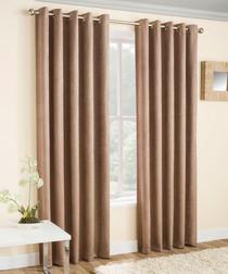 2pc latte thermal curtains 168cm x 137cm