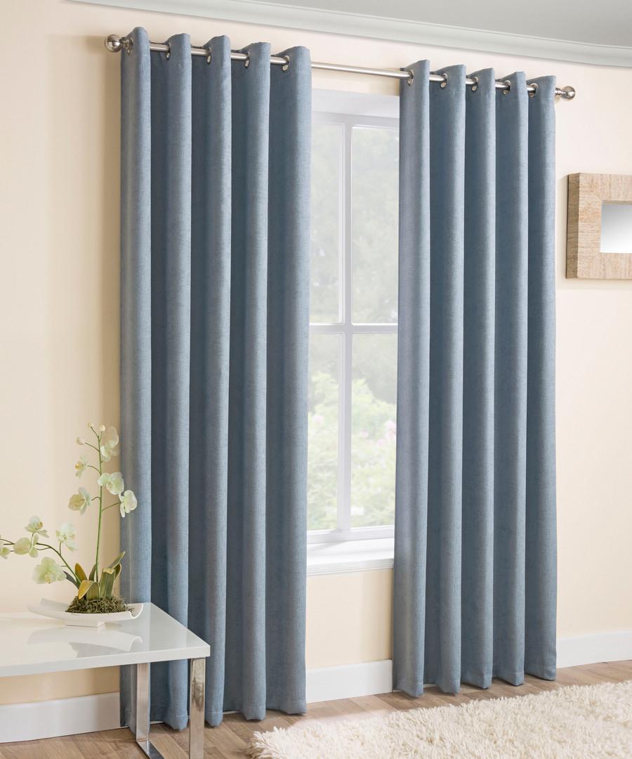 2pc blue thermal curtains 168cm x 137cm Sale - Enhanced Living