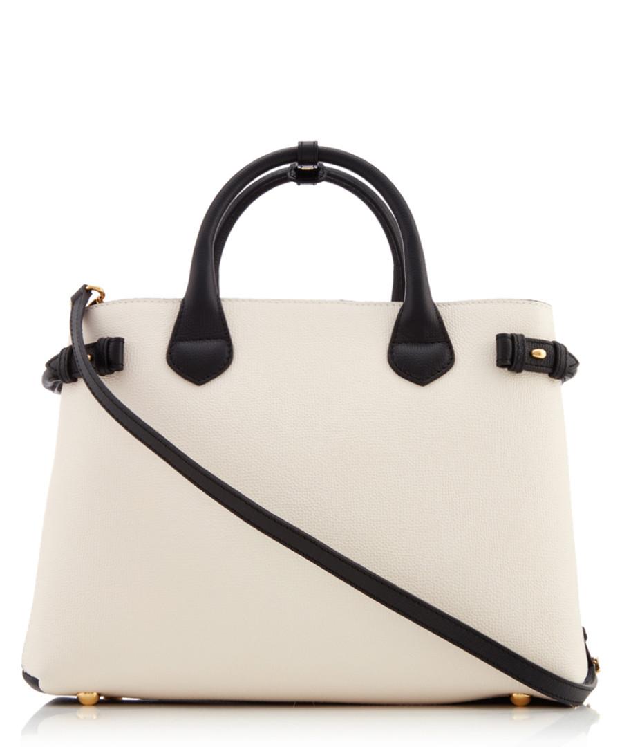 ... Cream   black leather grab bag Sale - BURBERRY ... 924ebf2e99