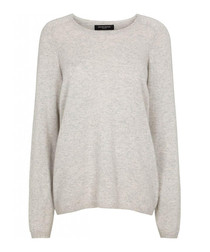 Light grey pure cashmere jumper