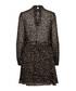 Women's black silk blend leopard dress Sale - Bruunz Bazaar Sale