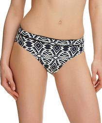 Beqa black & cream bikini briefs