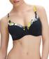Beziers black printed padded bikini top Sale - fantasie Sale